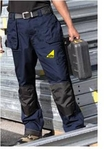 Dickies Eisenhower Knee Pad Trousers - Navy - Gas Safe Logo