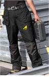Dickies Eisenhower Knee Pad Trousers - Black - Gas Safe Logo